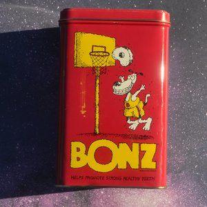 Vintage 1989 Purina Bonz Collectible Tin Box